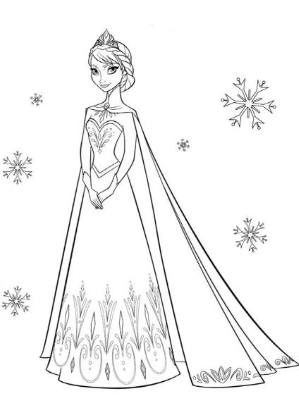 desenho da frozen para colorir  2