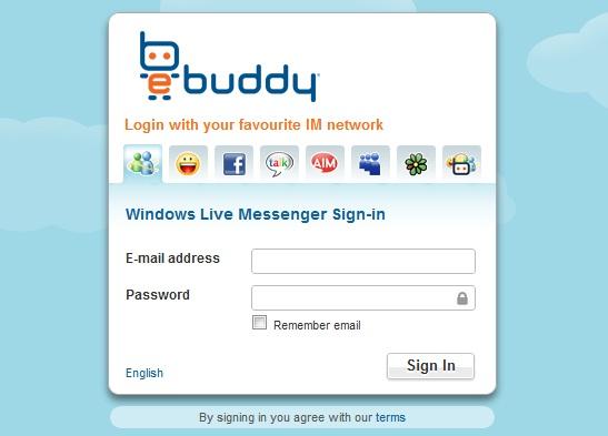 eBuddy login
