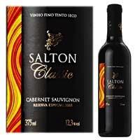 Nacional Tinto Cabernet Sauvignon Classic SALTON Garrafa 375ml – PREÇO: R$ 10,40