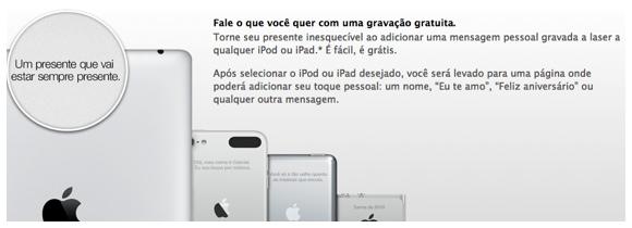 Personalize seu iPad ou iPod