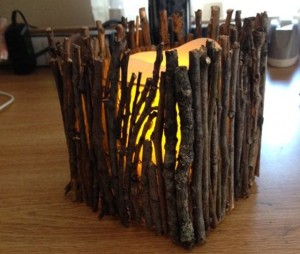 Como fazer uma Luminária de Mesa artesanal com gravetos
