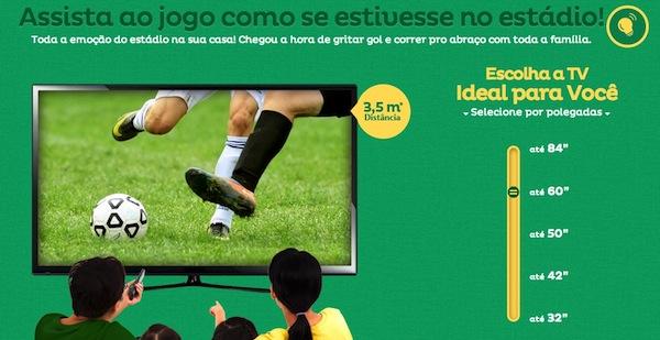 televisão em promoção no supermercado Extra