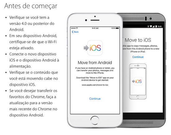 MIGRAR ANDROID PARA IPHONE