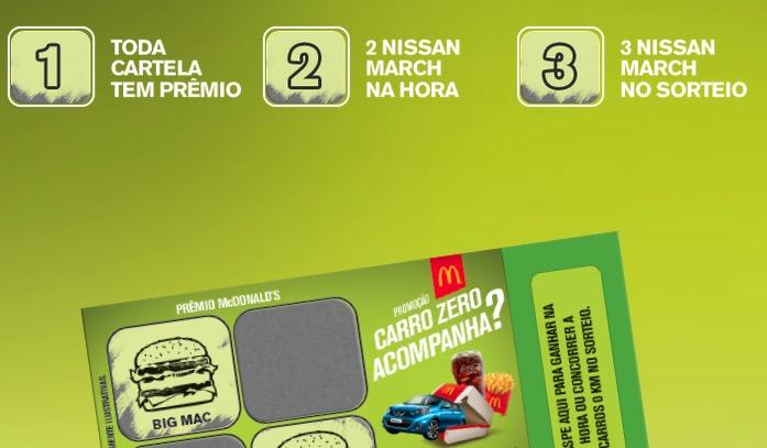 PROMOÇAO MC DONNALDS 2015 CARRO ZERO