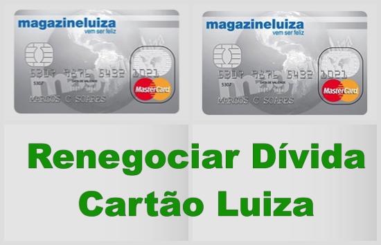 Renegociar Dívida Cartão Luiza