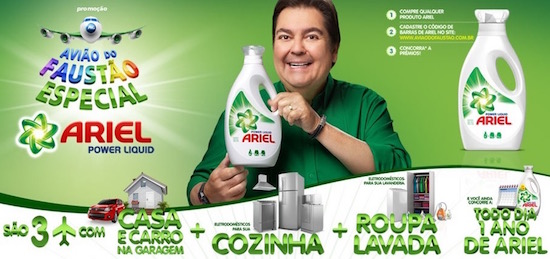 promoçao ariel aviao do faustao
