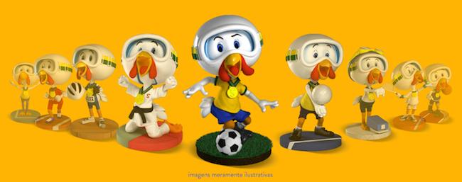 bonequinhos mascotes da olimpidas Sadia