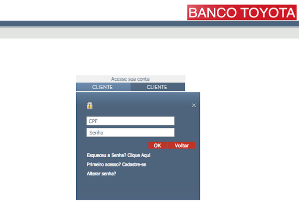 login banco toyota