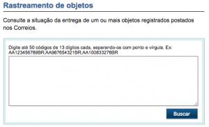 Rastreamento Correios - www.correios.com.br