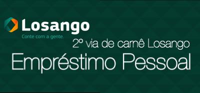2º via de carnê Losango - Empréstimo Pessoal