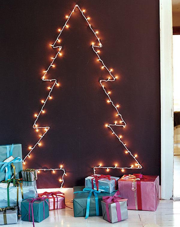 Árvore de Natal de Parede com Luzes