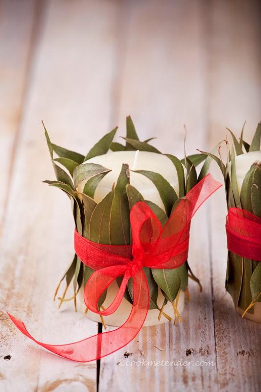 vela de natal decorativa