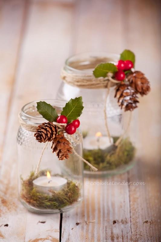 potes decorados para o natal