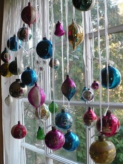 Decoração de natal para janela da casa