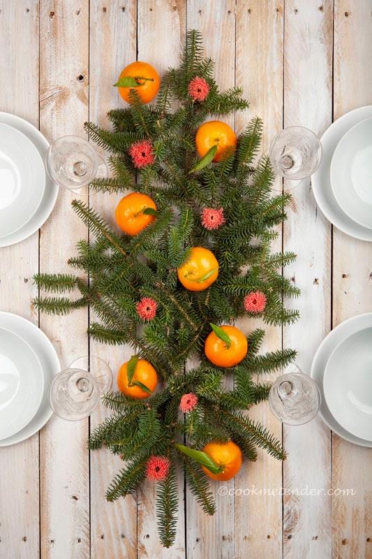 decoração de natal para a ceia