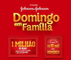 Promoção Johnson & Johnson Domingo em Família - CADASTRE-SE!